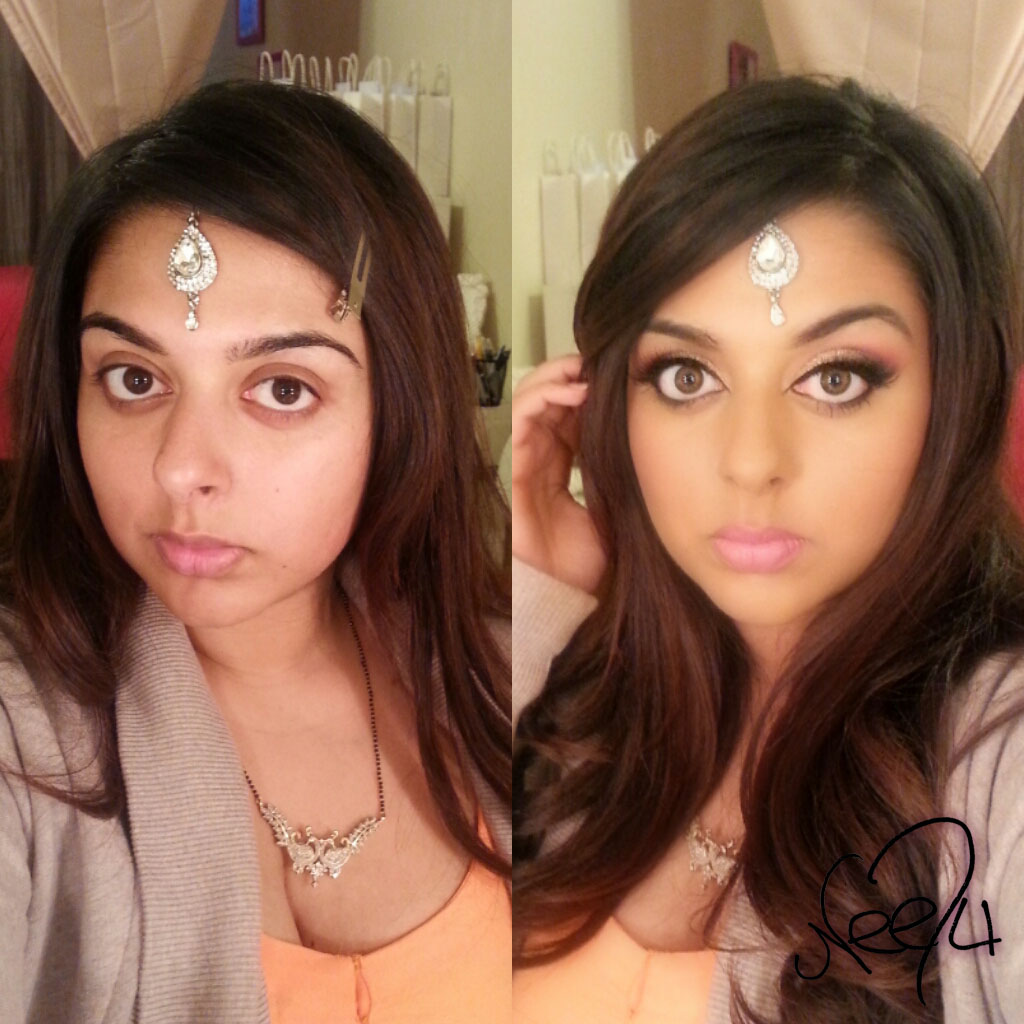 Selfie Time Before And After Award Winning Toronto Bridal Makeup